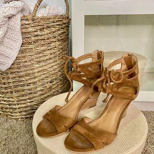 Brown Small Block Heel